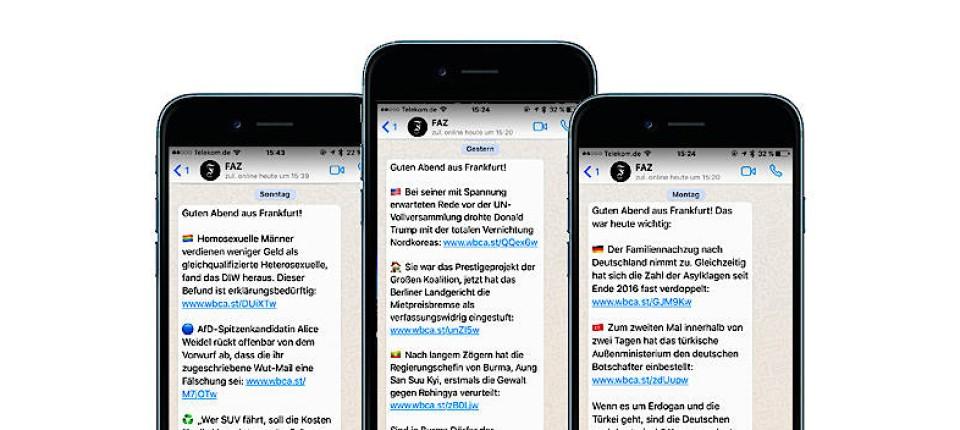 News des Tages per Whatsapp, Telegram und Facebook Messenger