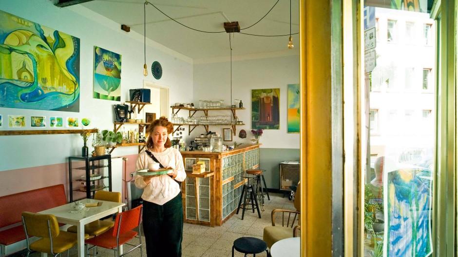 Gastgeberin: Michelle Denk im Cafe des Piecycle