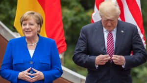 Merkels Bierzelt-Rede begeistert Trump