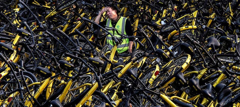 Verkehrschaos Durch Invasion Der Mieträder In China