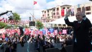 Erdogan nach seiner Rede am Freitag
