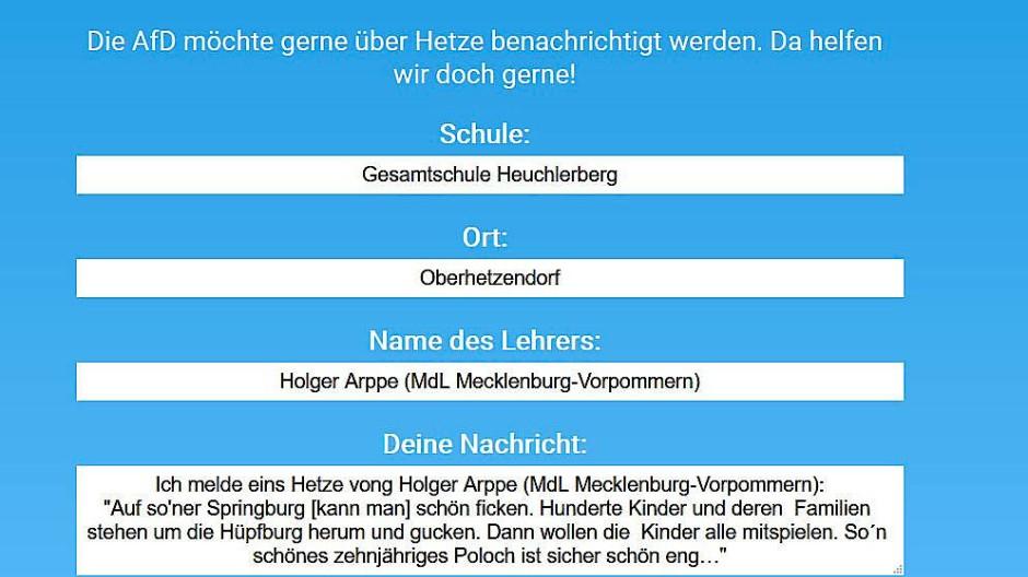 Zehntausende haben das Angebot der Piraten genutzt und Hetz-Meldungen bei der AfD Baden-Württemberg eingereicht.