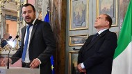 Matteo Salvini und Silvio Berlusconi