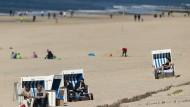So war's 2019: Strandszene auf Sylt