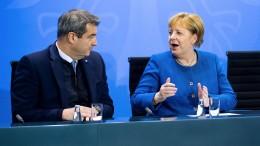 Merkel bringt Söder in Verlegenheit