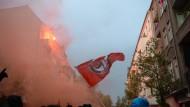 Walpurgisnacht-Demo bleibt friedlich