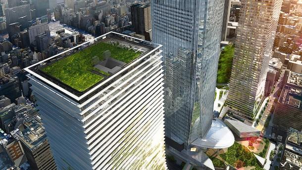Schwarzer Tower, grüne Fächer