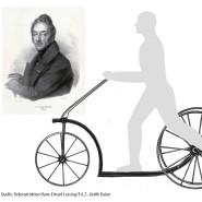 Standfest: So könnte der Tretroller von Carl Ferdinand Langhans ausgesehen haben.