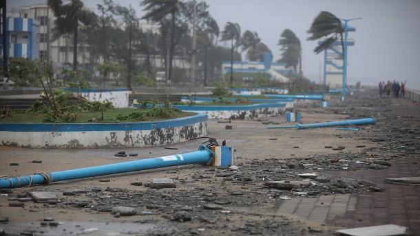 """Zyklon """"Yaas"""" wütet in Indien"""