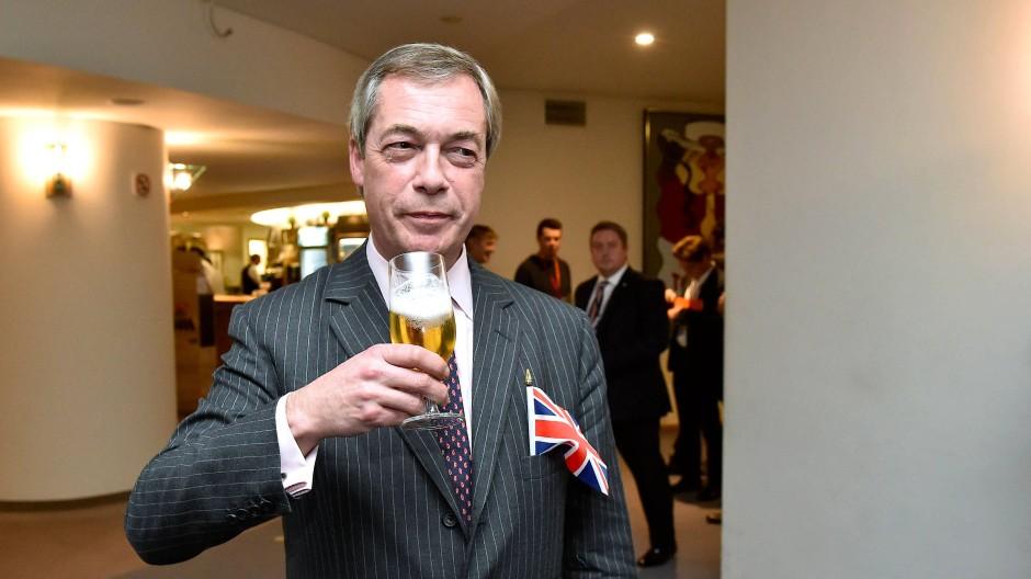 Freut sich: Nigel Farage am Mittwoch im EU-Parlamant in Brüssel