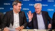 Nachfolger und Vorgänger? Markus Söder und Horst Seehofer Anfang November in München.