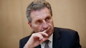 EU-Kommissar Oettinger fällt in Ungnade