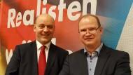 Haben es schwer: Robert Lambrou und Klaus Herrmann, Sprecher des Landesvorstands der AfD-Fraktion