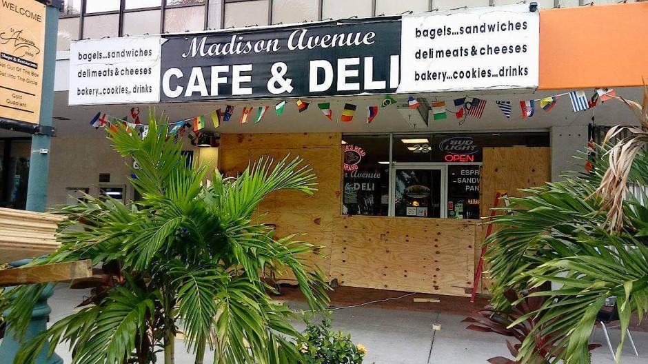 Das Café der Familie auf St. Armand's, der Insel vor Sarasota
