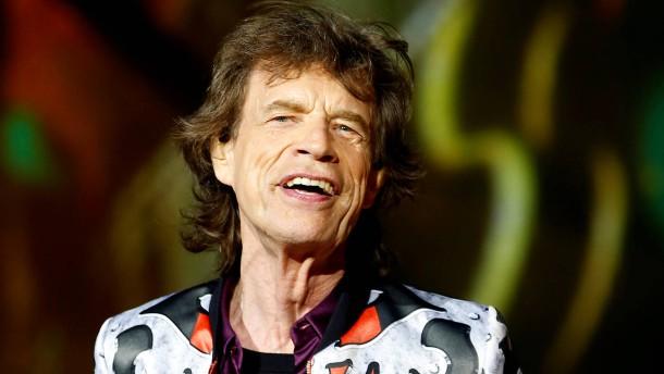 Mick Jagger postet Foto von Spaziergang