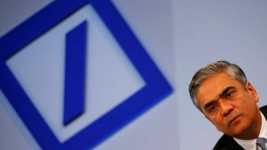 Co-Chairman of Germany's largest business bank, Deutsche Bank, Jain addresses the media during the bank's annual news conference in Frankfurt