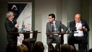 Mit Schwung bei der Sache: Heiner Monheim, Martin Zimmermann und Klaus Oesterling (von links)