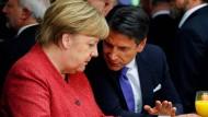 Merkel und Conte vergangene Woche in Davos.