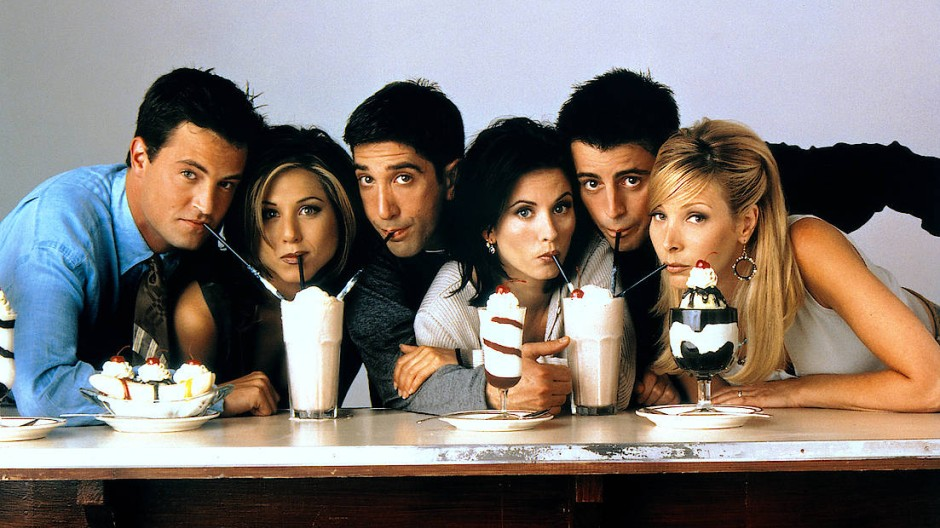 Echte Freunde teilen – mit diesem Foto wurde die dritte Staffel Friends beworben. Es ist auch auf dem T-Shirt unserer Autorin.