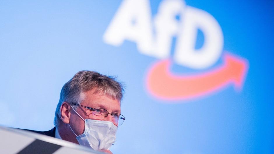 Jörg Meuthen, Bundessprecher der AfD, beim Bundesparteitag in Kalkar am 28. November