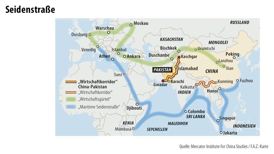 Seychellen Malediven Karte.China Sichert Sich Mit Investitionen In Pakistan Ab