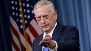 Trump deutet Ausscheiden des Verteidigungsministers an