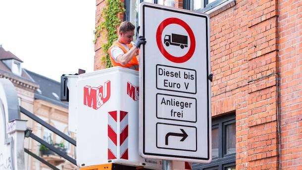 Hamburg rechnet mit baldigem Ende der Diesel-Fahrverbote