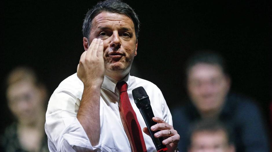 """Gerne wird Matteo Renzi die """"Arroganz der Macht"""" angehängt."""
