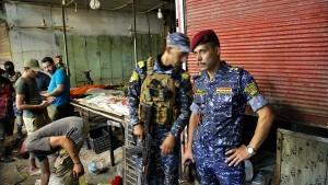Viele Tote und Verletzte bei Anschlag auf Markt in Bagdad