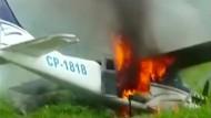 Polizei schießt Schmuggler-Flugzeug ab