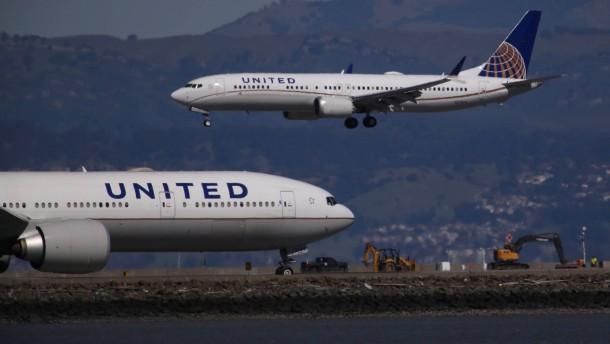 United Airlines streicht 737-Max-Flüge bis Juni