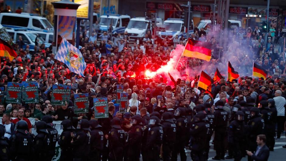 Demonstration in Chemnitz im August