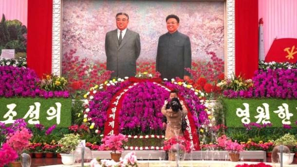 Spektakuläres Blumenmeer für Staatsgründer