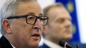 Juncker lehnt Abbruch der Verhandlungen ab