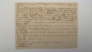 """Bilanz: Seine Kindheitserinnerung """"Idyll von Alt-Lubowitz"""" hält Eichendorff auf einem amtlichen Schreiben fest."""