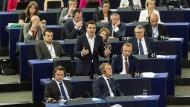 Tsipras bei seinem Besuch im EU-Parlament in Straßburg: Verhandeln bis zum Umfallen.