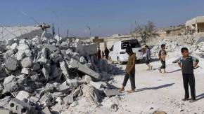 Dieses Haus in Kfredrian in der Provinz Idlib soll bei den amerikanischen Angriffen zerstört worden sein