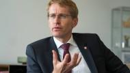 Provoziert auch ohne Twitter: Ministerpräsident Daniel Günther in Kiel