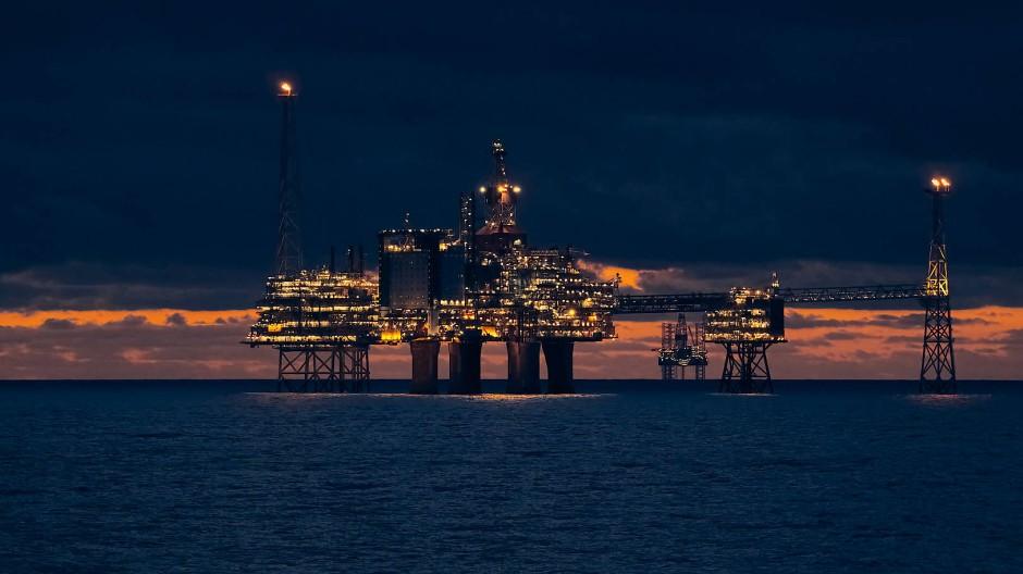 Auf dem Sleipner-Feld vor Stavanger in Norwegen wird nicht nur Gas gefördert, sondern auch in Gesteinsschichten unter dem Meer verpresst.
