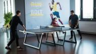 Cooles Klima in der Puma-Social-Lounge: Tischtennis für die Pausen