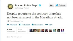 Boston Police Twittermeldung