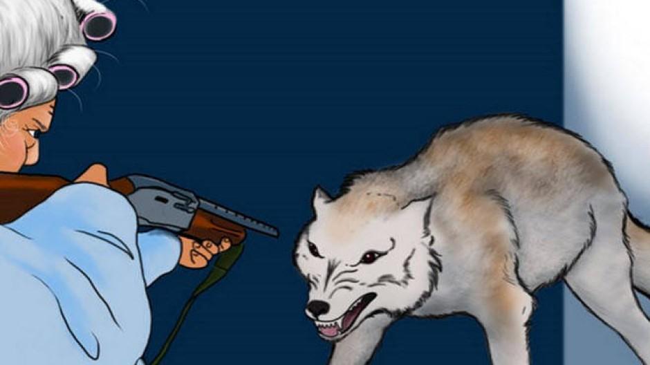 Wehrhafte Omi: Da hat auch der Wolf keine Lust mehr auf sein Mittagessen