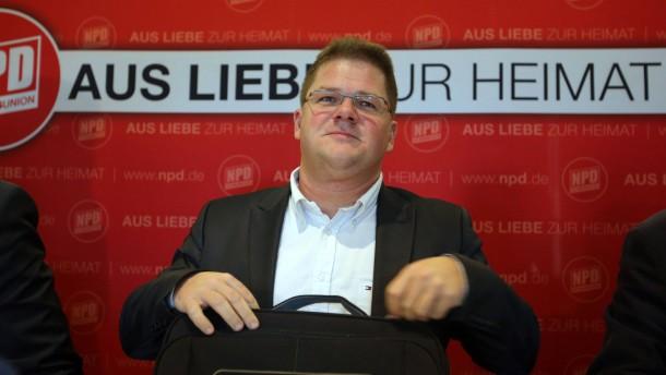 NPD-Pressekonferenz zu Parteiverbot