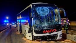 Stau nach Reisebus-Unfall auf A3