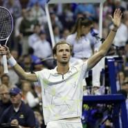 Der 23-jährige Russe Daniil Medwedew steht nach seinem Sieg über den Bulgaren Grigor Dimitrov im Endspiel der US Open - dem ersten Grand-Slam-Finale seiner Karriere.
