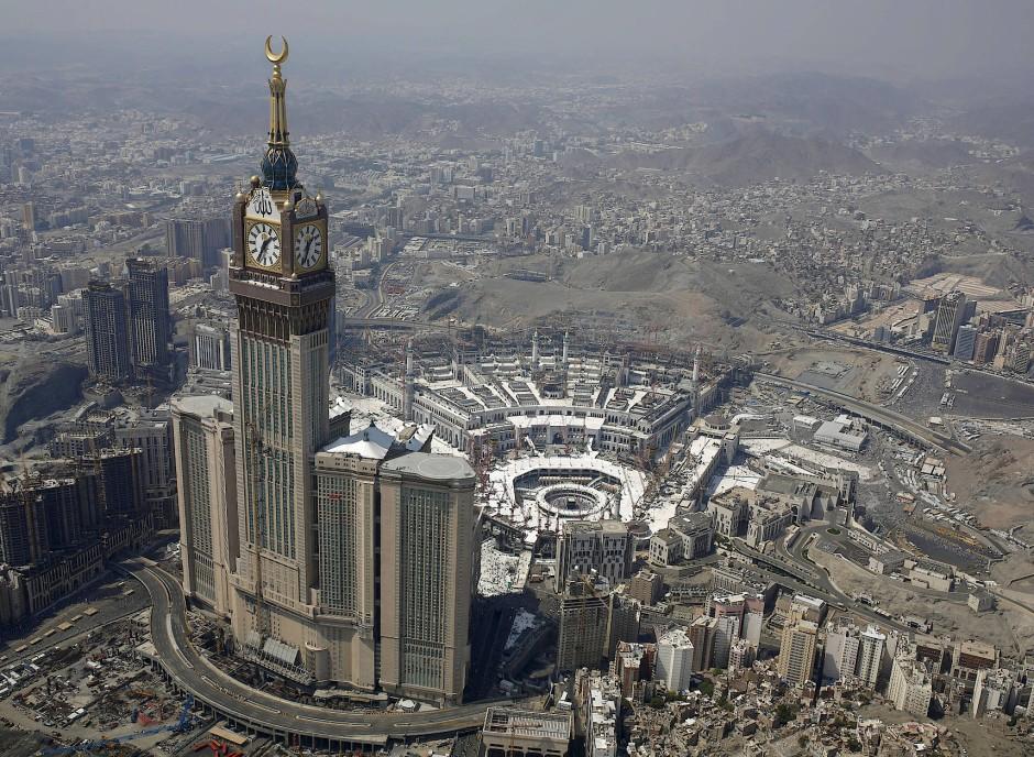 Luftaufnahme der al-Haram-Moschee in Mekka