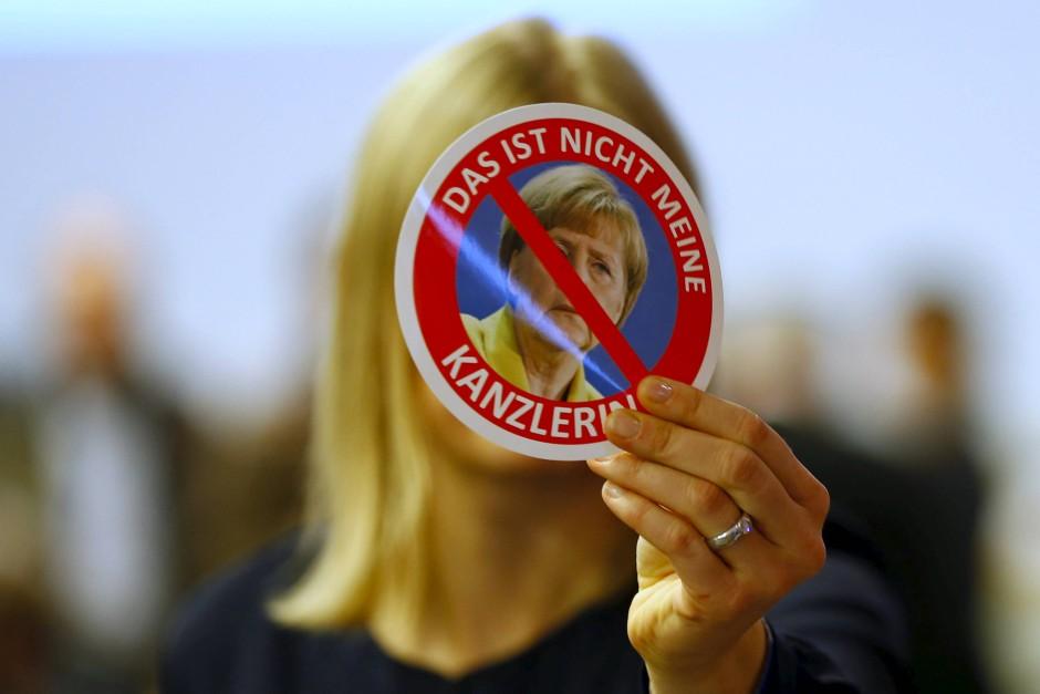 Auf Angela Merkel sind die AfD-Delegierten nicht gut zu sprechen.
