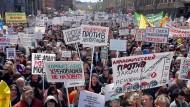 Massenproteste gegen Korruption im Mai 2017 in Moskau