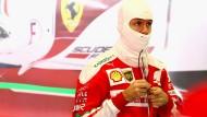 Lieber verstecken? Sebastian Vettel droht für seine Entgleisungen ein Nachspiel