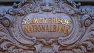 Der Eingang zur Schweizerischen Nationalbank in Bern.